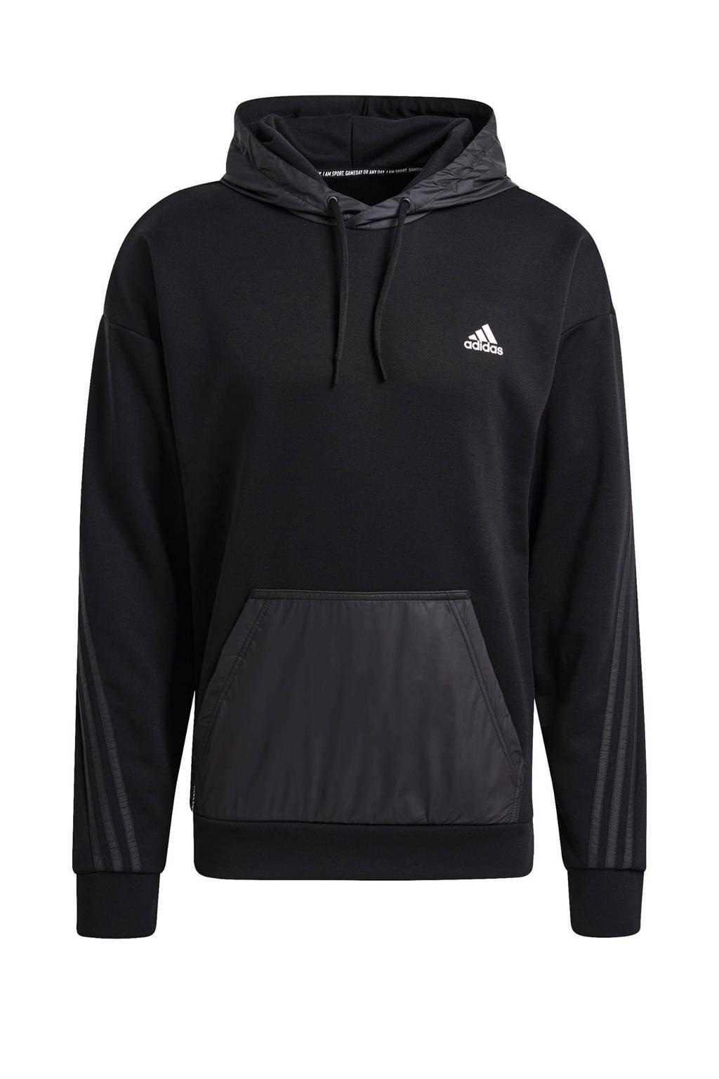 adidas Performance   sporthoodie zwart, Zwart