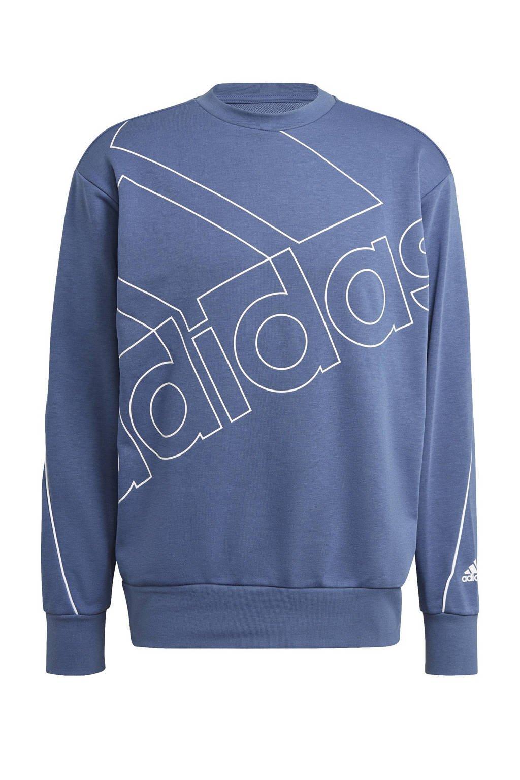adidas Performance   sportsweater blauw, Blauw/wit
