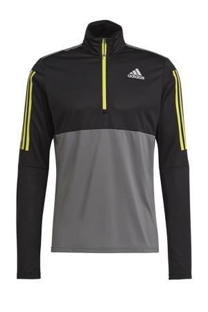 Own The Run hardloop T-shirt grijs/zwart/geel