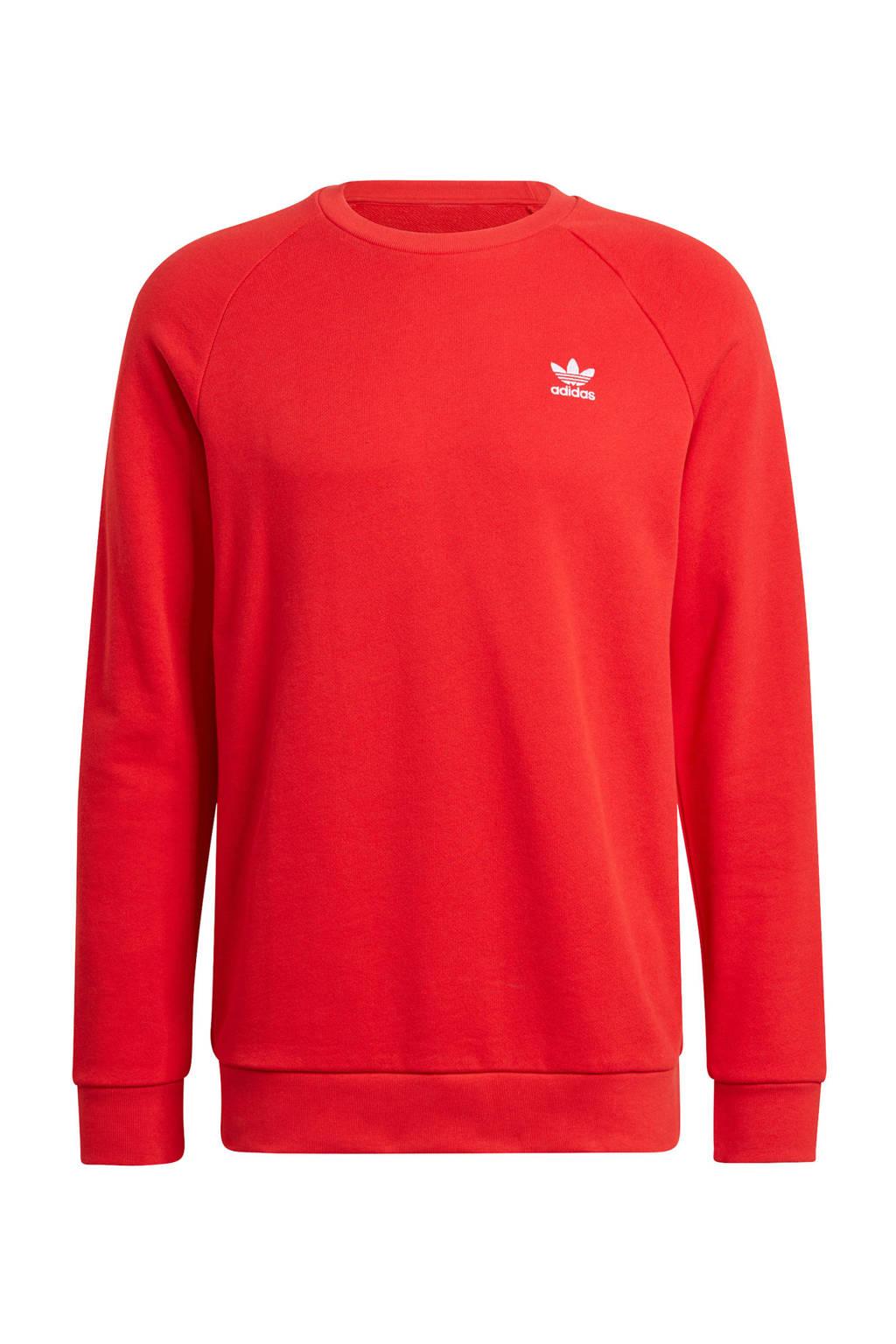 adidas Originals sweater rood/wit, Rood/wit