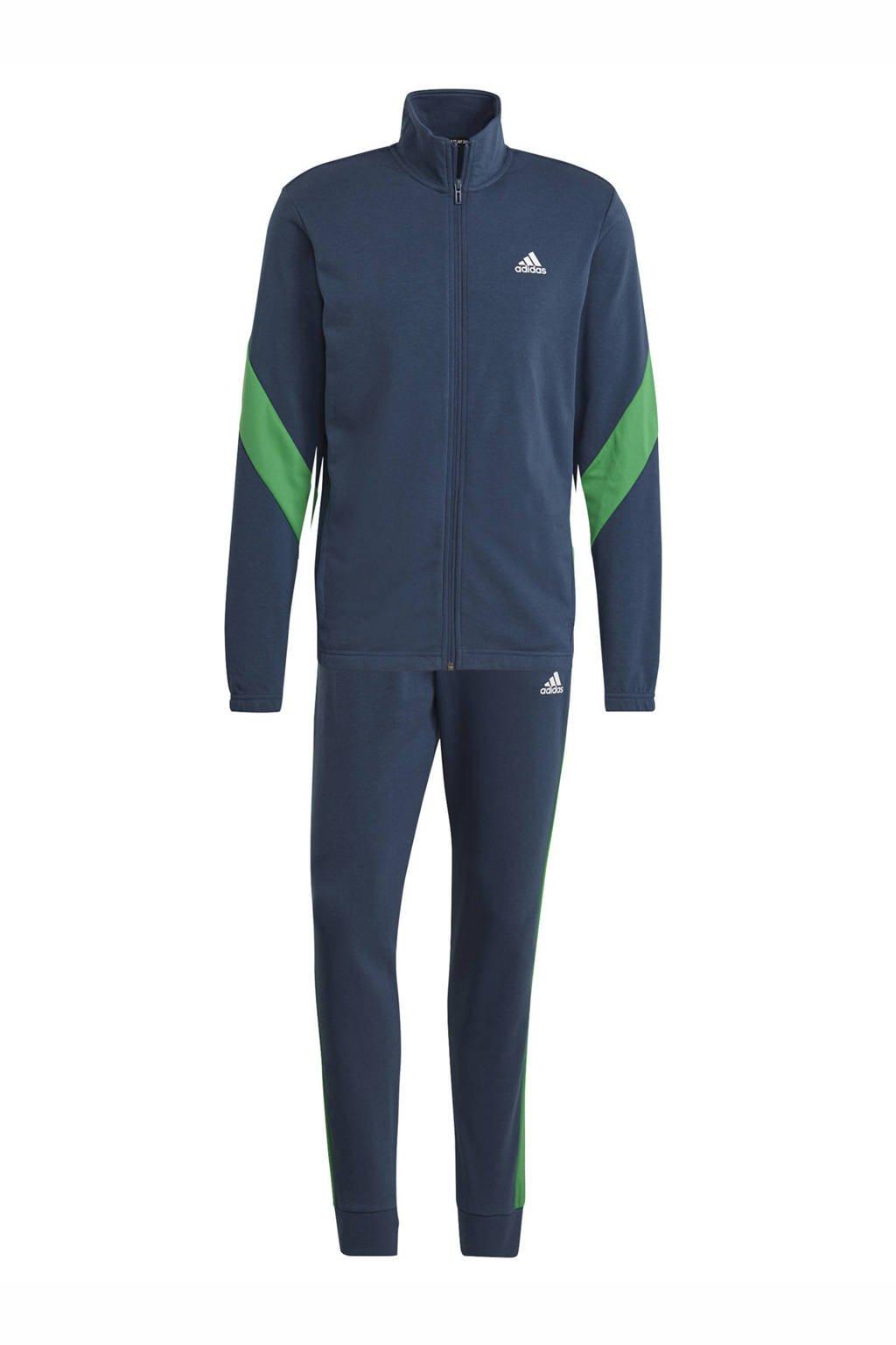 adidas Performance   trainingspak donkerblauw/groen, Donkerblauw/groen