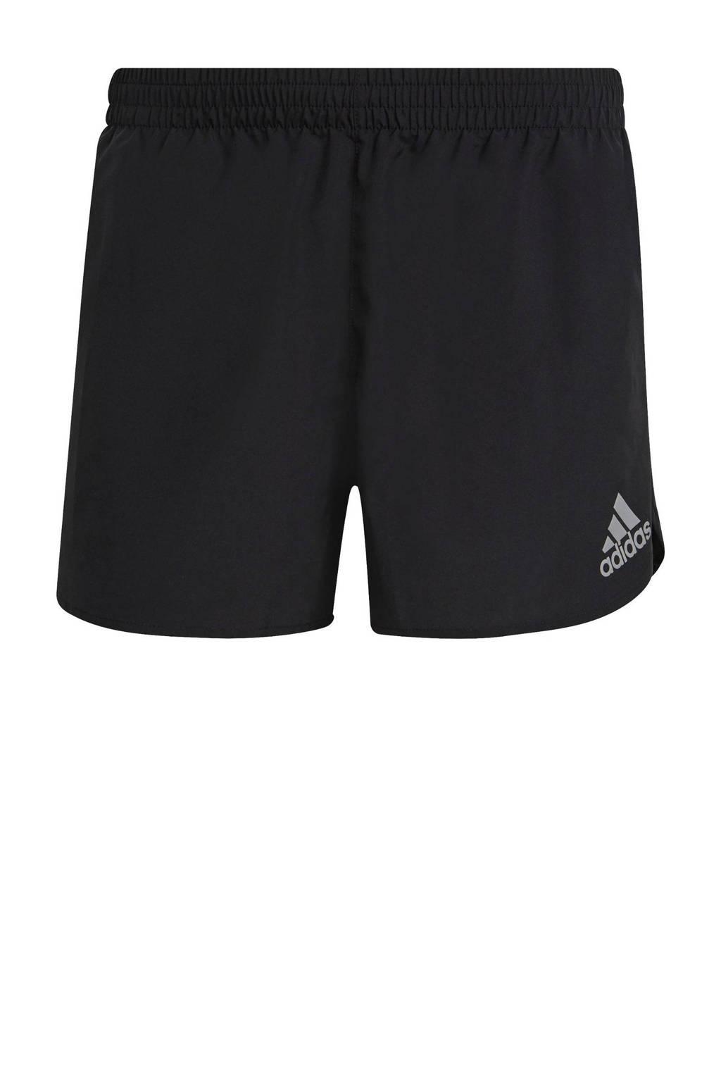 adidas Performance   Adizero hardloop short zwart, Zwart
