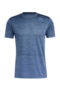 adidas Performance   Designed4Training sport T-shirt blauw, Blauw