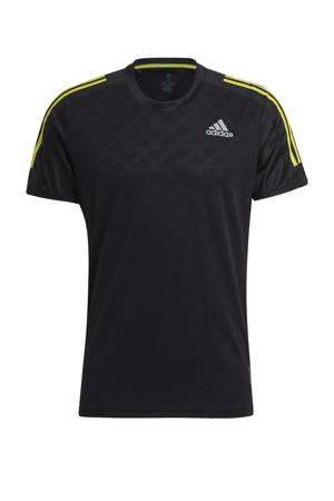 Own The Run hardloopshirt zwart/geel