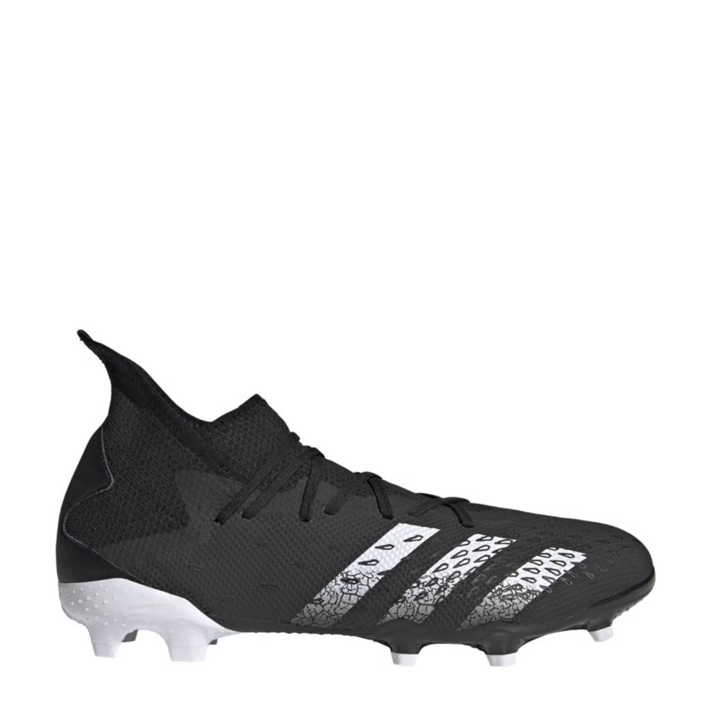 adidas Performance Predator Freak.3 FG Sr. voetbalschoenen zwart/wit, Zwart/wit