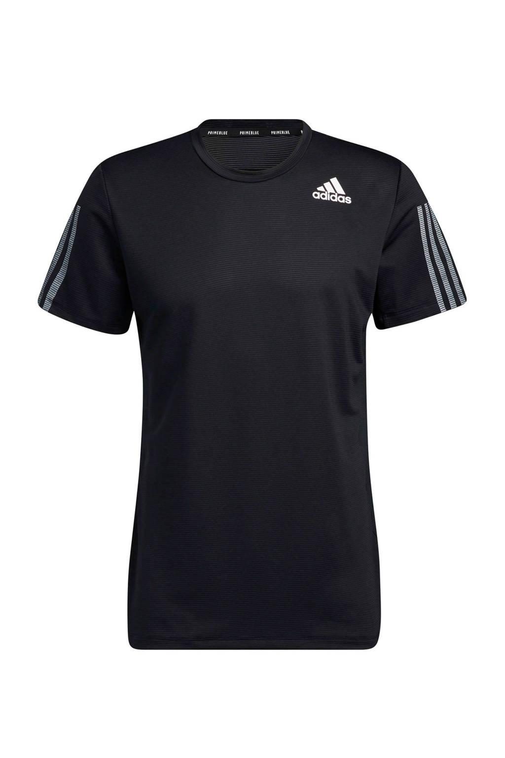 adidas Performance   Designed4Training sport T-shirt zwart, Zwart