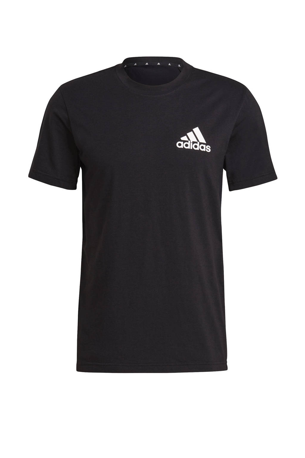 adidas Performance   Designed2Move sport T-shirt zwart/wit, Zwart/wit