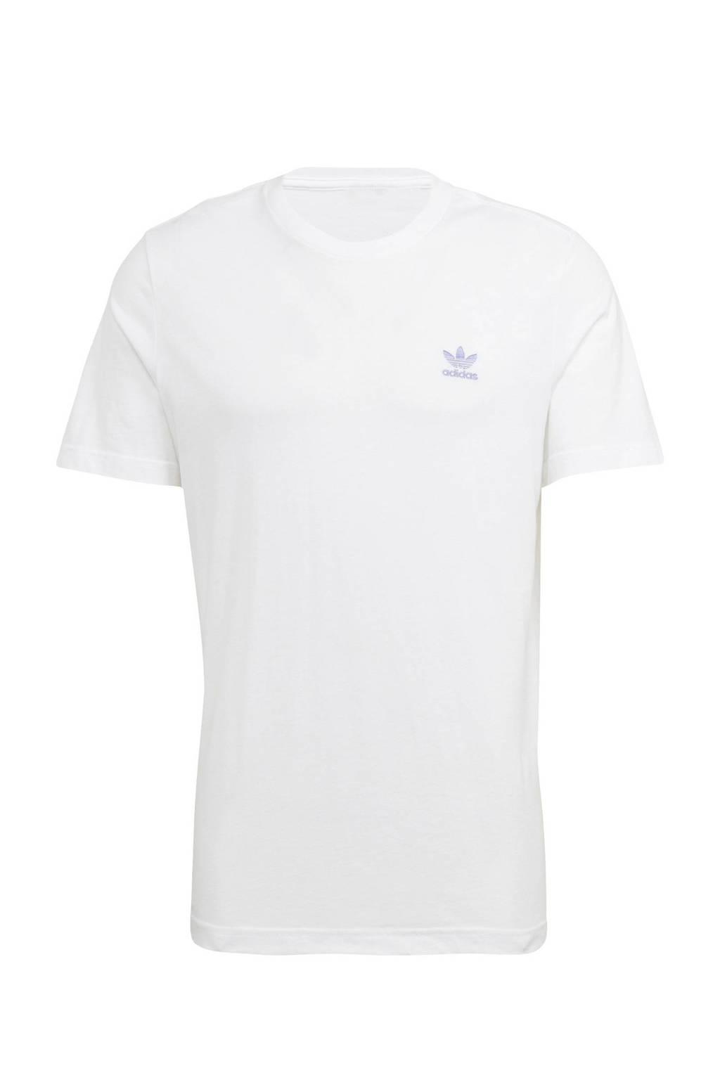 adidas Originals Adicolor T-shirt wit/lila, Wit/lila