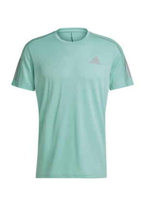 Own The Run hardloop T-shirt mintgroen/oranje