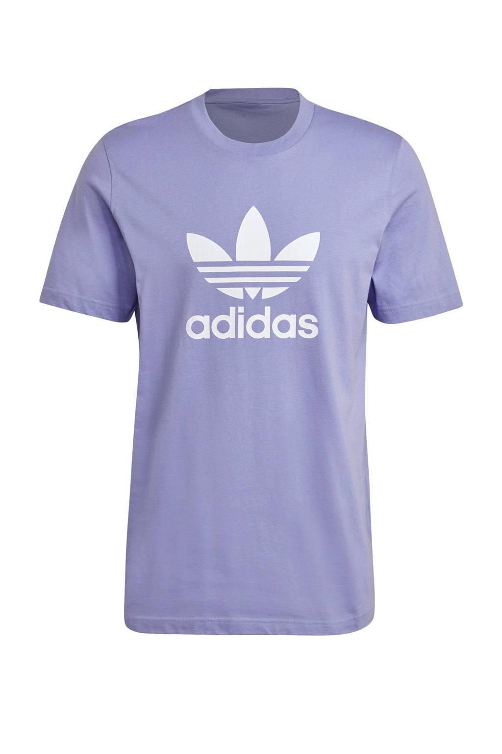 adidas Originals Adicolor T-shirt lila/wit, Lila/wit