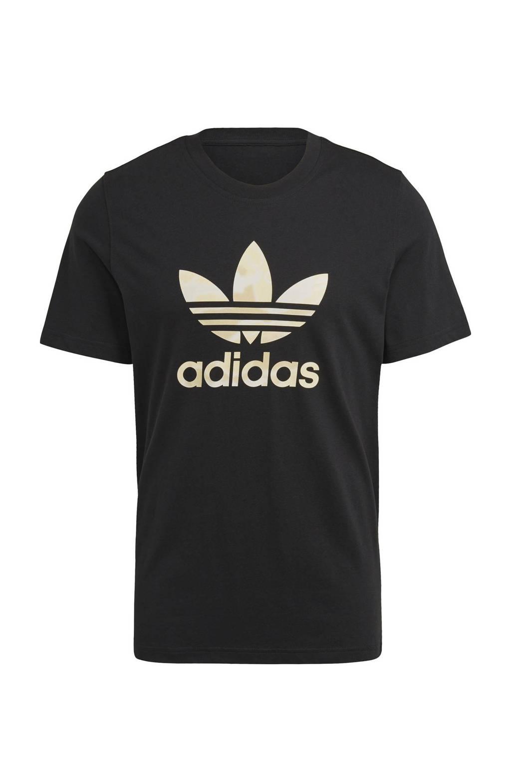 adidas Originals T-shirt zwart/grijs, Zwart/grijs