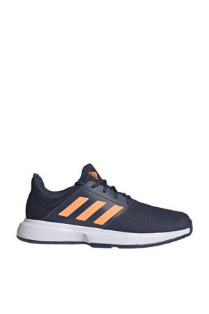 GameCourt M tennisschoenen donkerblauw/oranje/wit