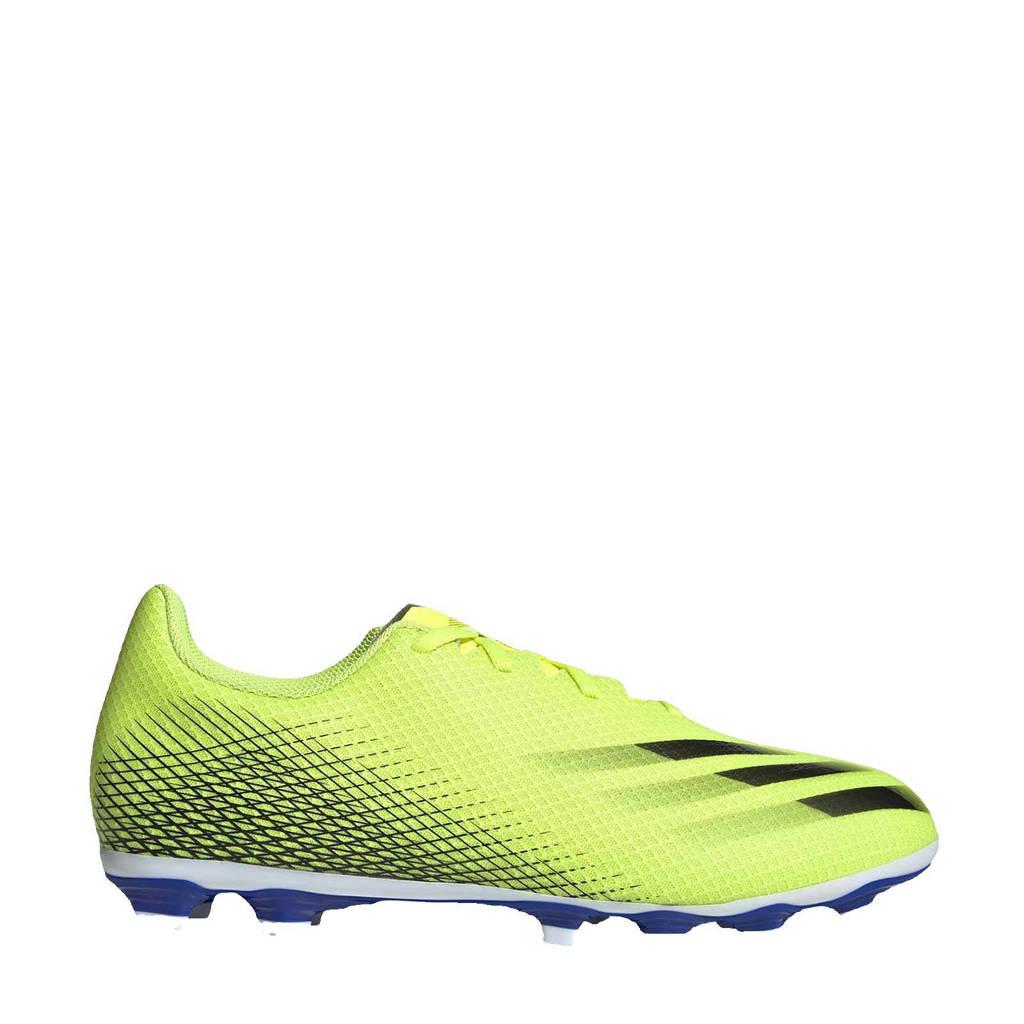 adidas Performance X Ghosted.4 FxG Sr. voetbalschoenen geel/zwart/blauw, Geel/zwart/blauw