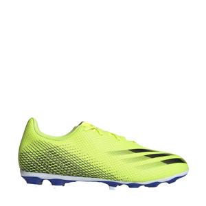 X Ghosted.4 FxG Sr. voetbalschoenen geel/zwart/blauw