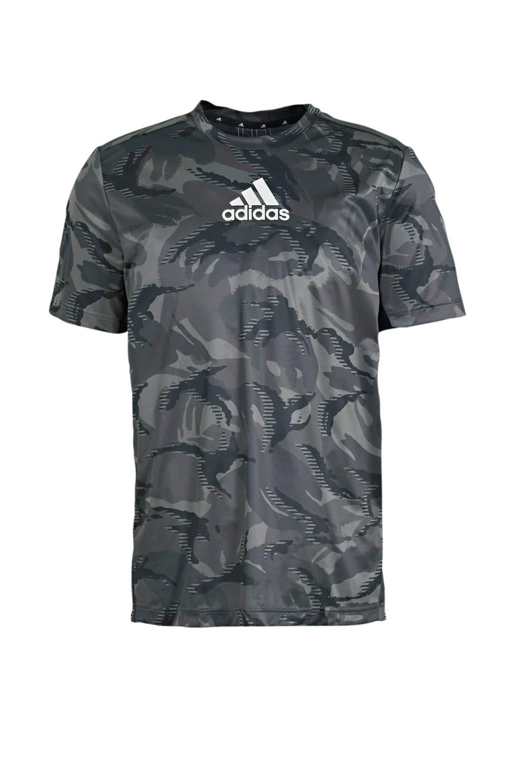 adidas Performance   Designed2Move sport T-shirt grijs, Grijs