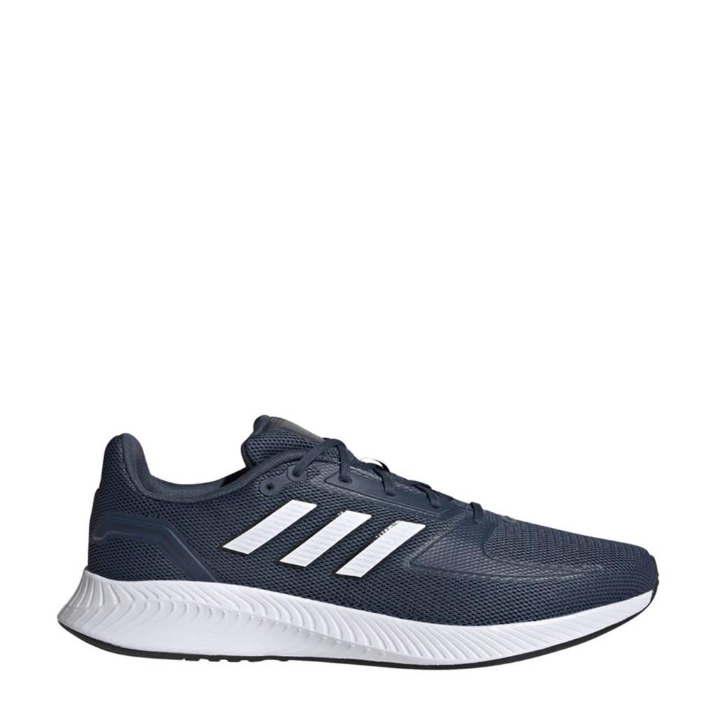 adidas Performance Runfalcon 2.0 hardloopschoenen donkerblauw/wit, Donkerblauw/wit