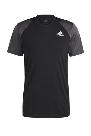 sport T-shirt zwart/grijs/wit