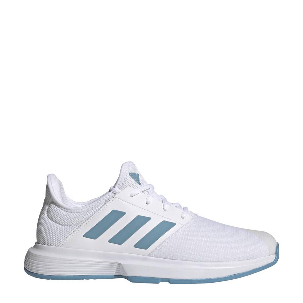 adidas Performance GameCourt M tennisschoenen wit/kobaltblauw/lichtblauw, Wit/lichtblauw