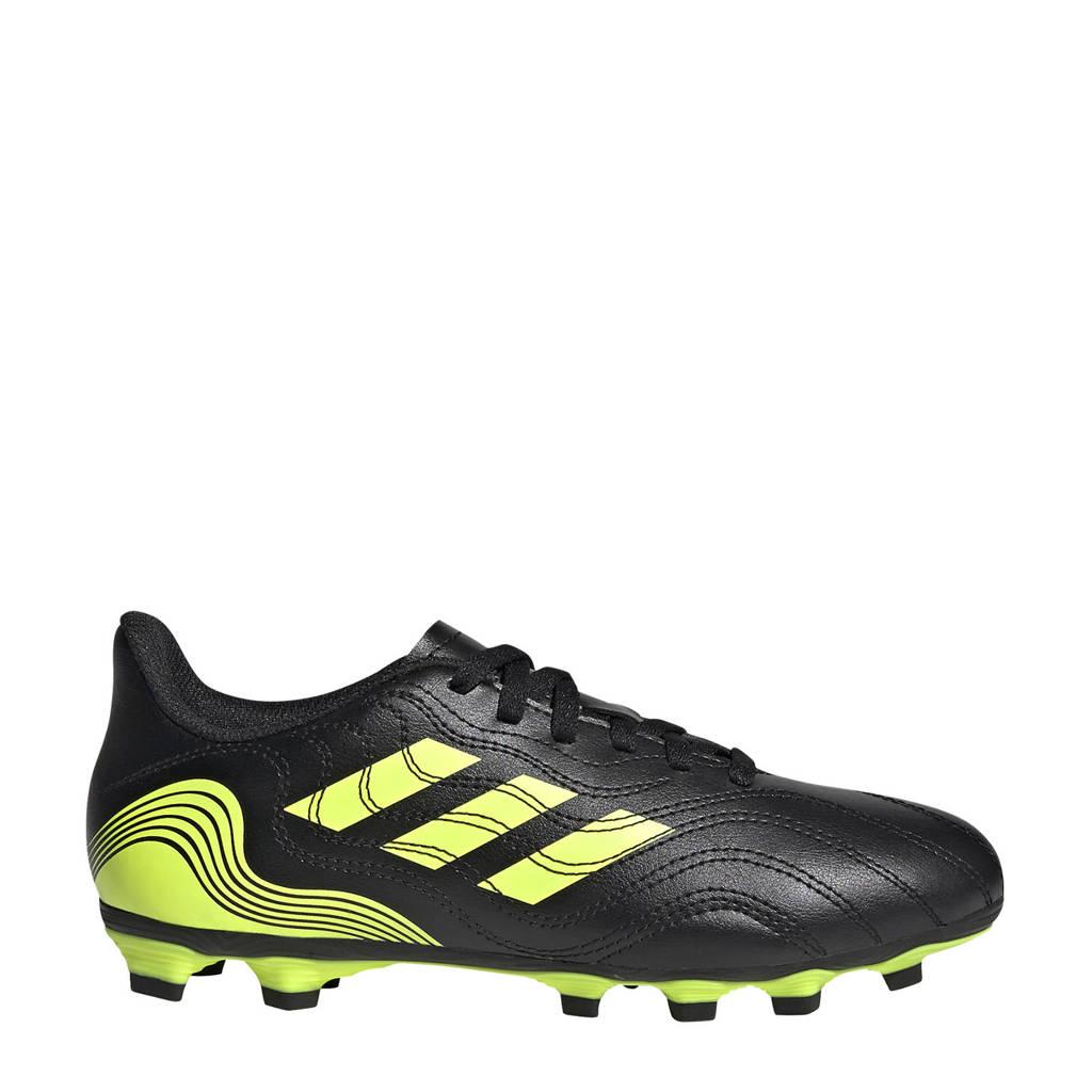 adidas Performance Copa Sense.4 FG Jr. voetbalschoenen zwart/geel, Zwart/geel
