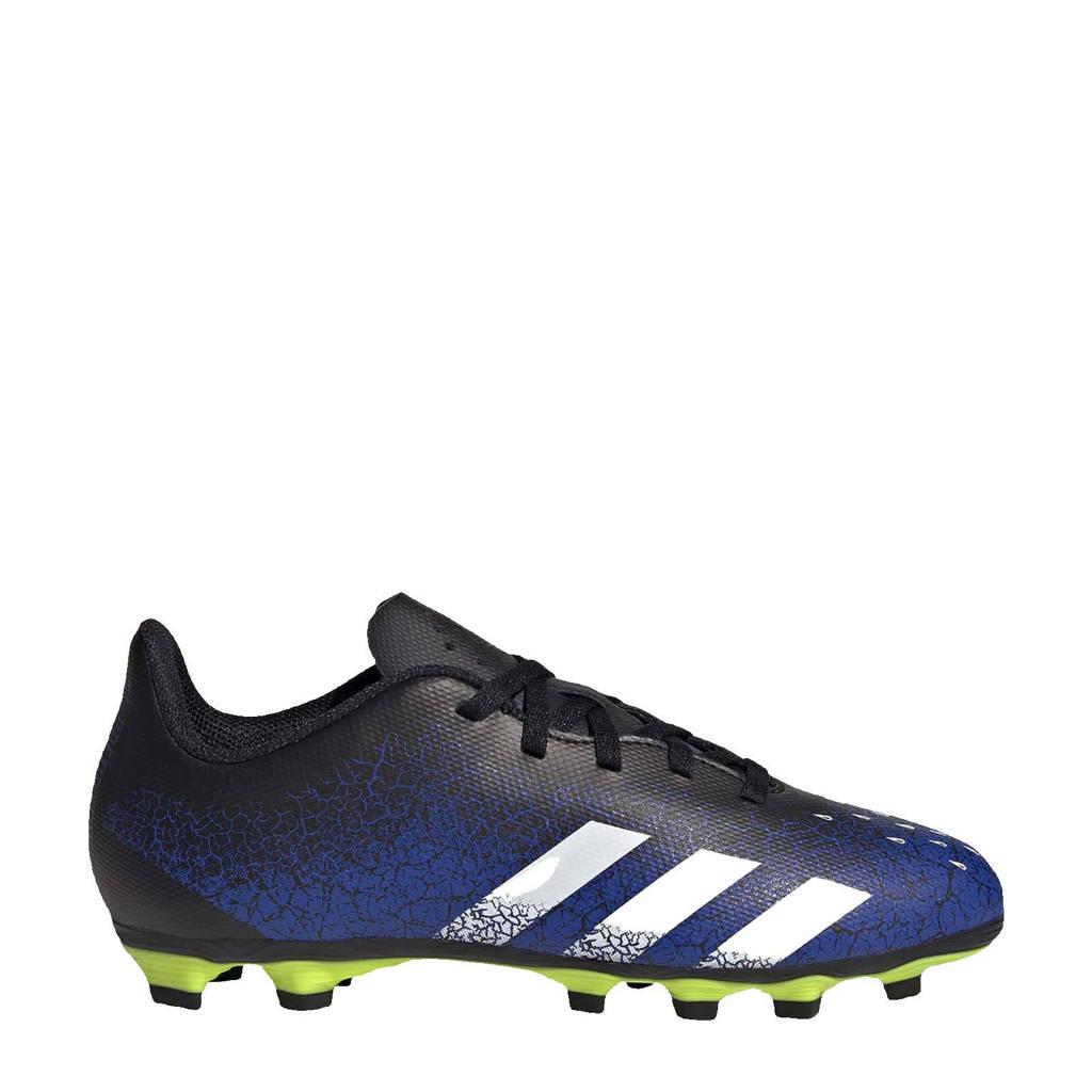 adidas Performance Predator Freak.4 FG Jr. voetbalschoenen blauw/wit, Blauw/wit