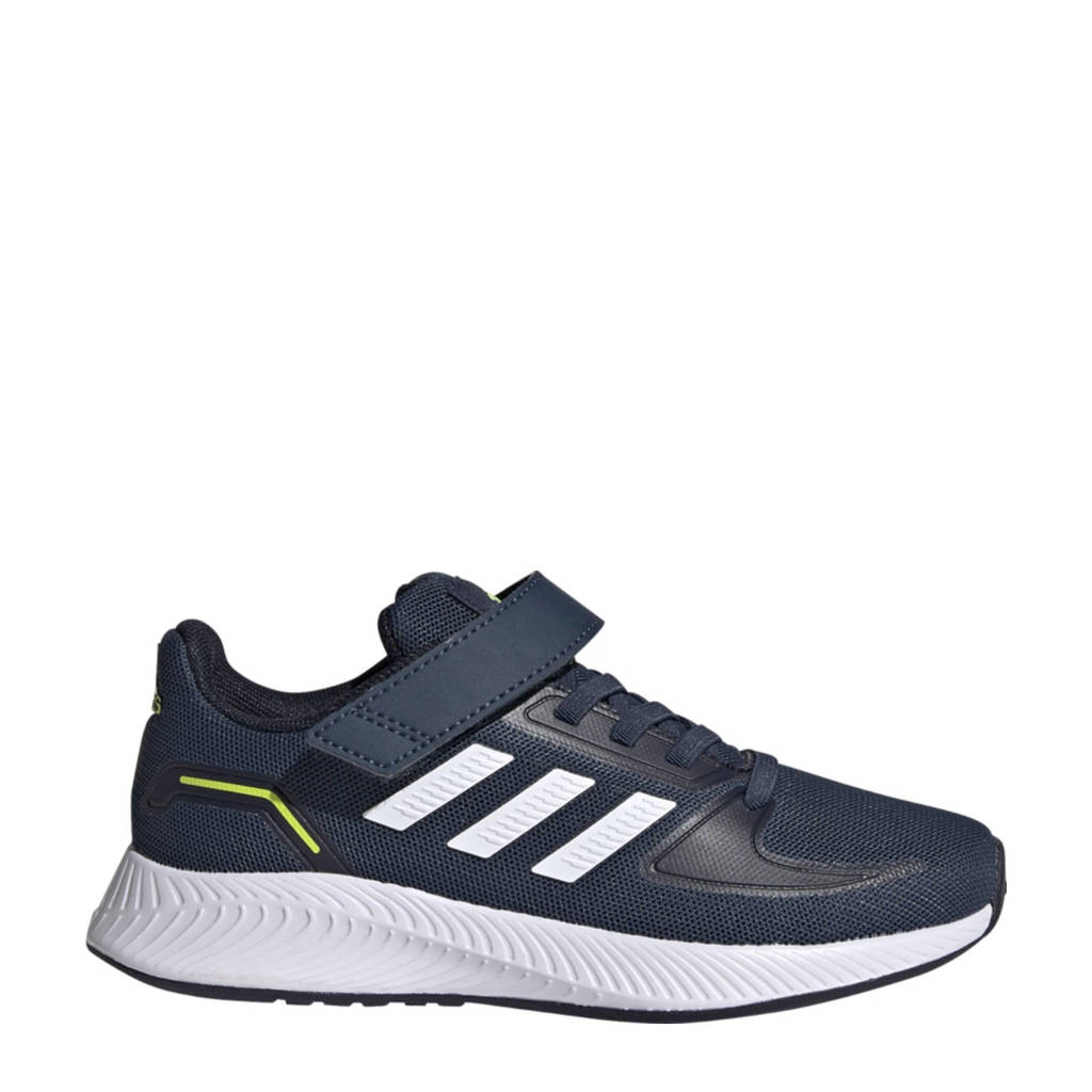 adidas Performance Runfalcon 2.0 Classic hardloopschoenen donkerblauw/wit kids, Donkerblauw/wit