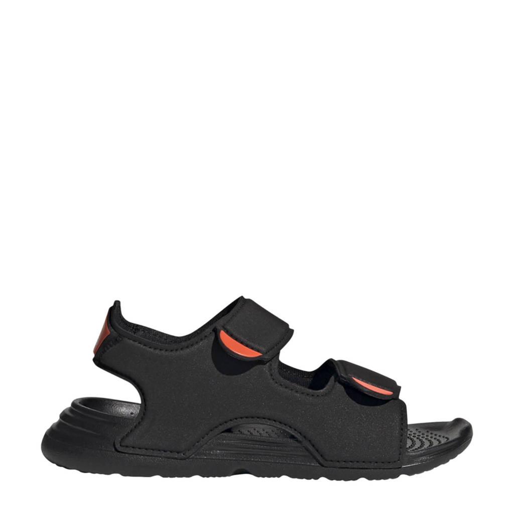 adidas Performance Swim sandal  waterschoenen zwart/wit kids, Zwart/wit