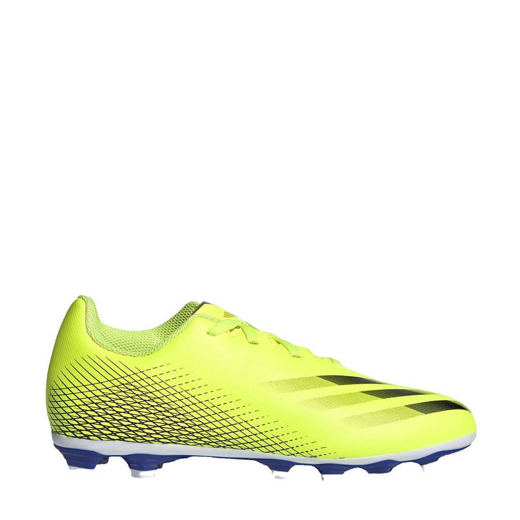 adidas Performance X GHOSTED.4 FxG Jr. voetbalschoenen geel/zwart/blauw, Geel/zwart/blauw