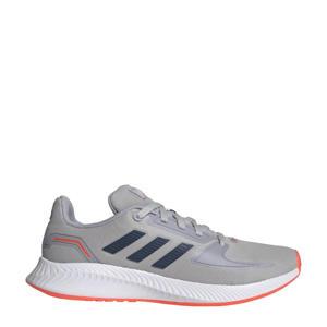 Runfalcon 2.0 Classic sneakers grijs/donkerblauw/zilver kids