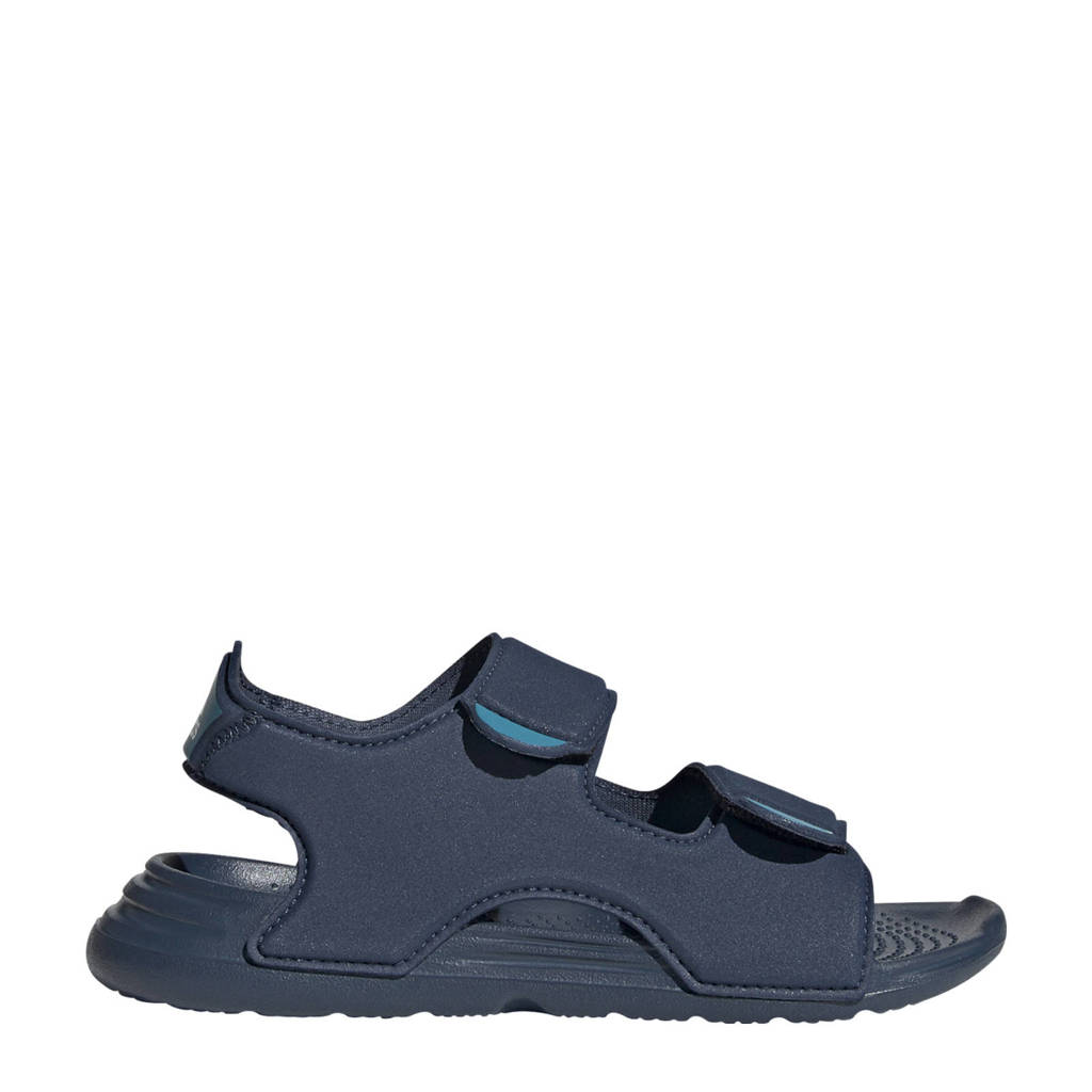 adidas Performance Swim sandal  waterschoenen donkerblauw kids, Donkerblauw/wit