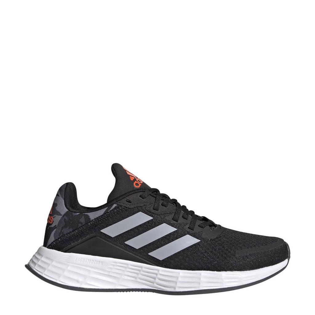 adidas Performance Duramo SL  hardloopschoenen zwart/zilver/rood kids, Zwart/zilver/rood