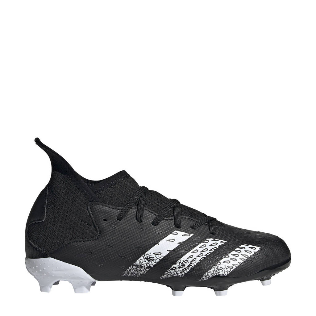 adidas Performance Predator Freak.3 FG Jr. voetbalschoenen zwart/wit, Zwart/wit