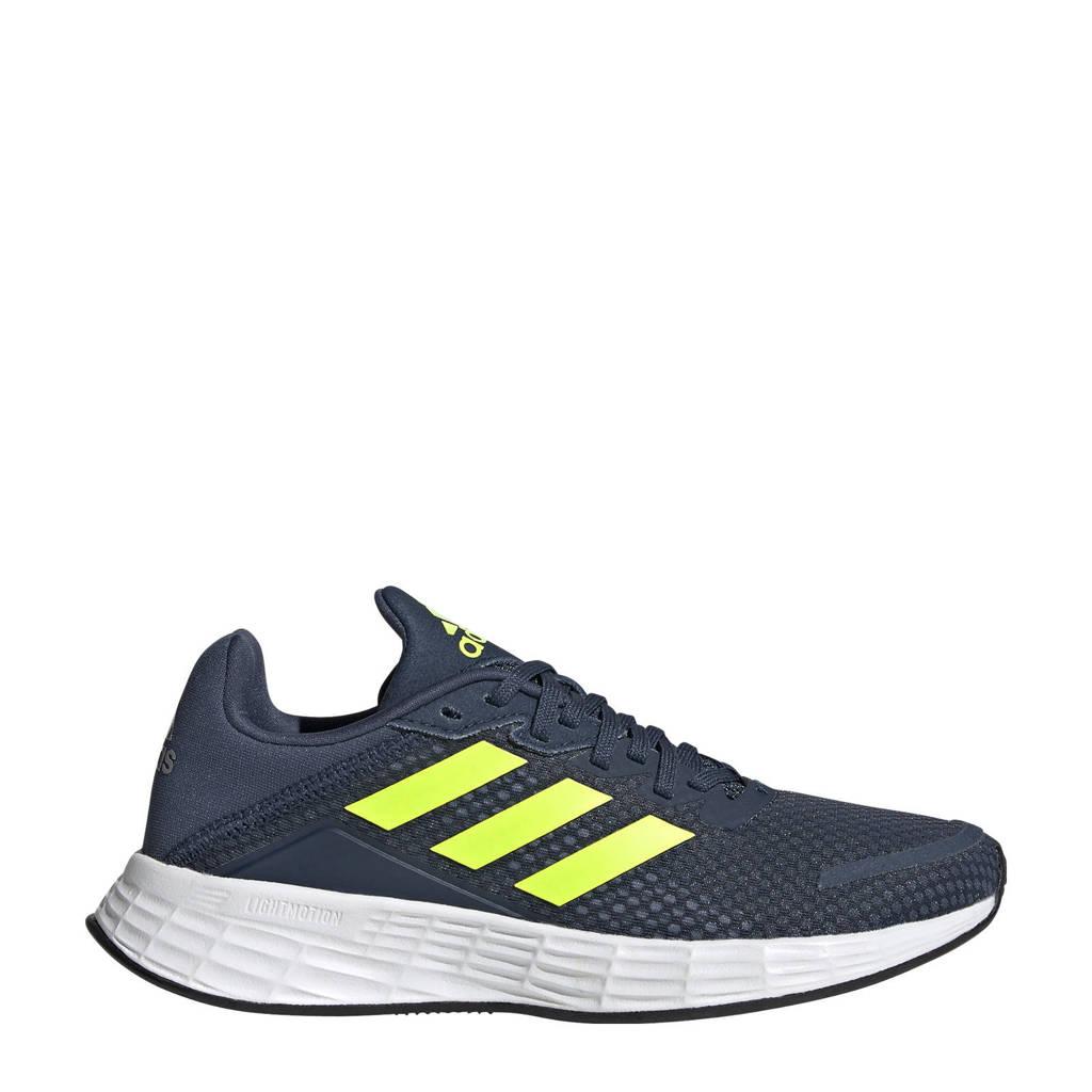 adidas Performance Duramo SL  hardloopschoenen donkerblauw/geel/zilver kids