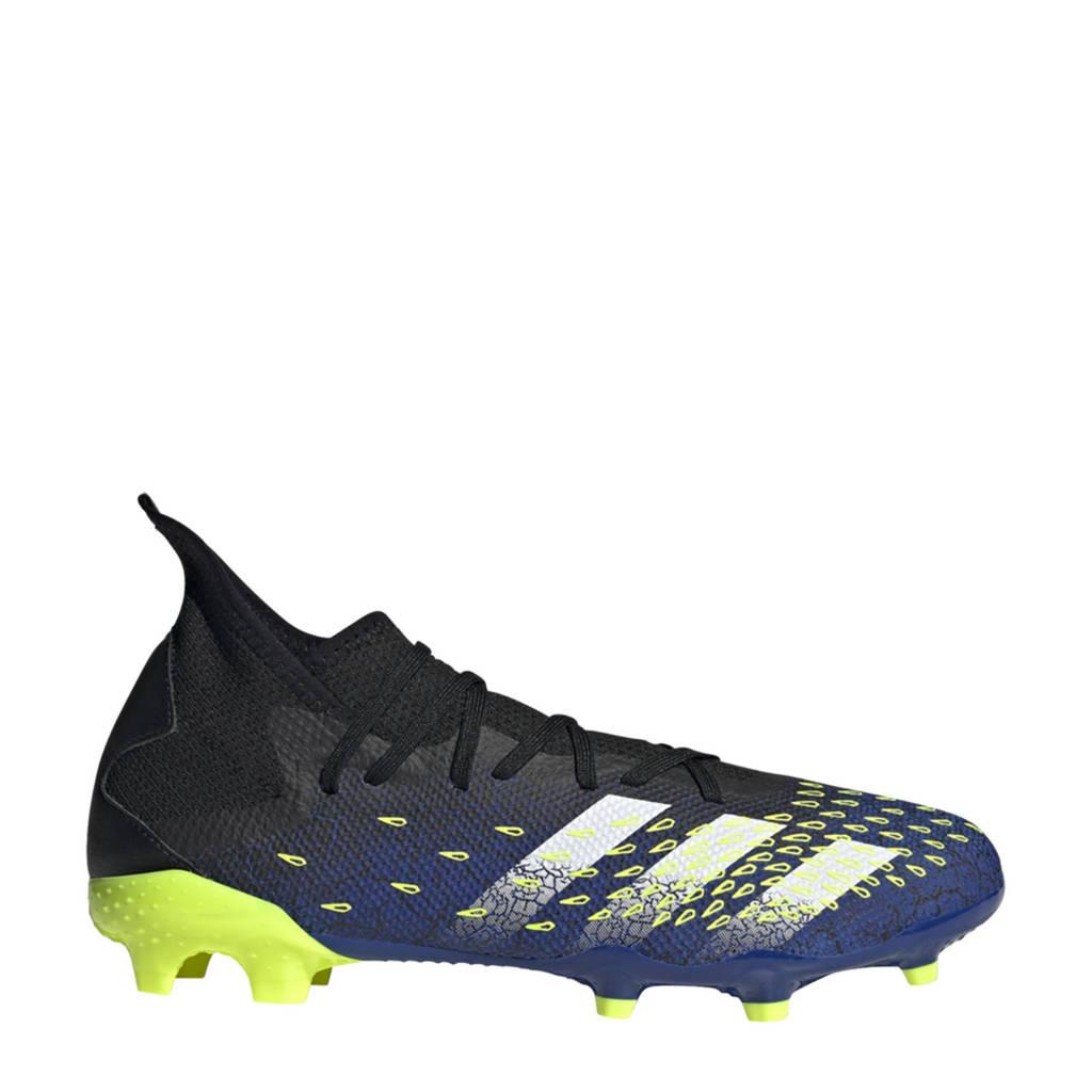 adidas Performance Predator Freak.3 FG Sr. voetbalschoenen zwart/wit/geel, Zwart/wit/geel