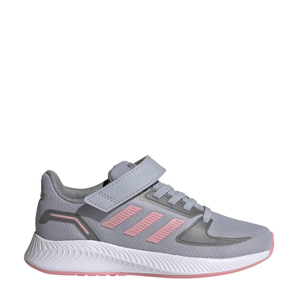 adidas Performance Runfalcon 2.0 Classic hardloopschoenen zilvergrijs/roze/grijs kids