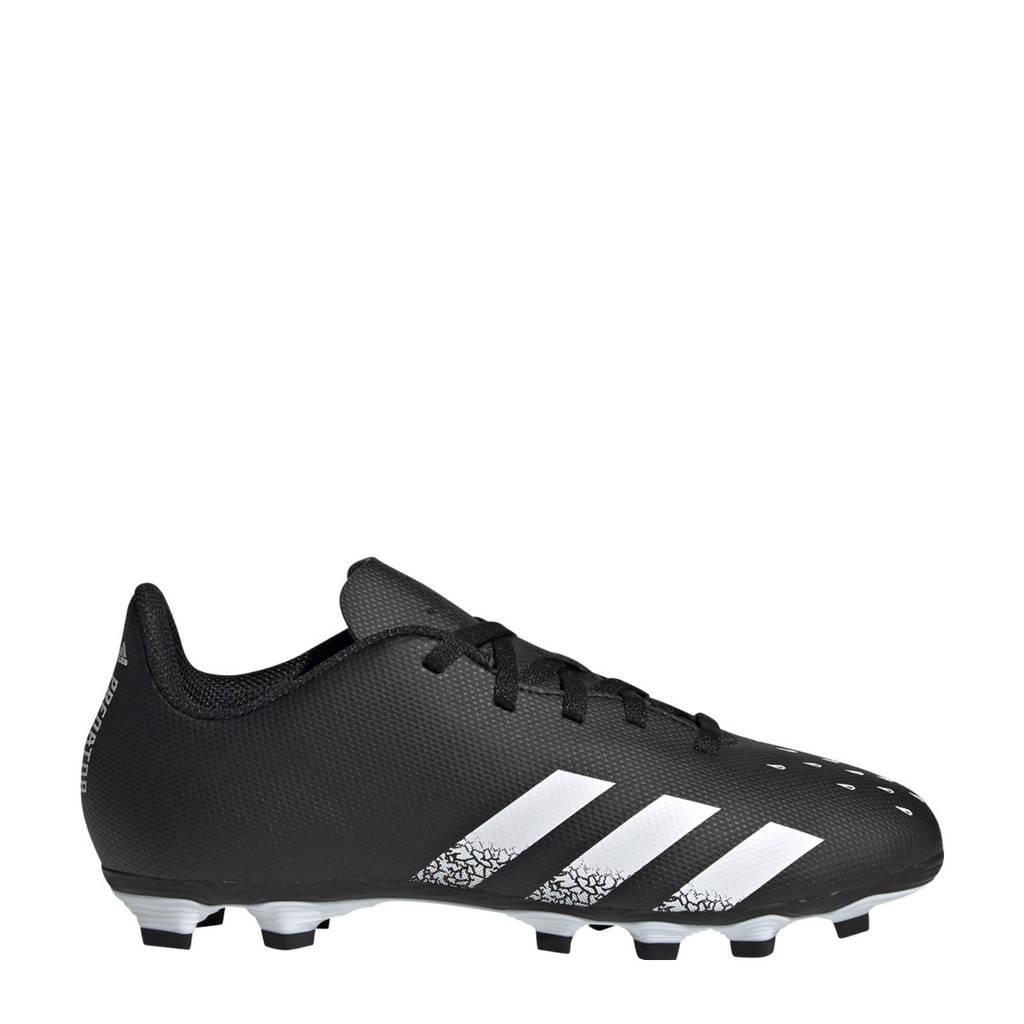 adidas Performance Predator Freak.4 FG Jr. voetbalschoenen zwart/wit, Zwart/wit
