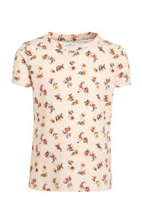 NAME IT MINI gebloemd T-shirt Dati met biologisch katoen roze, Roze