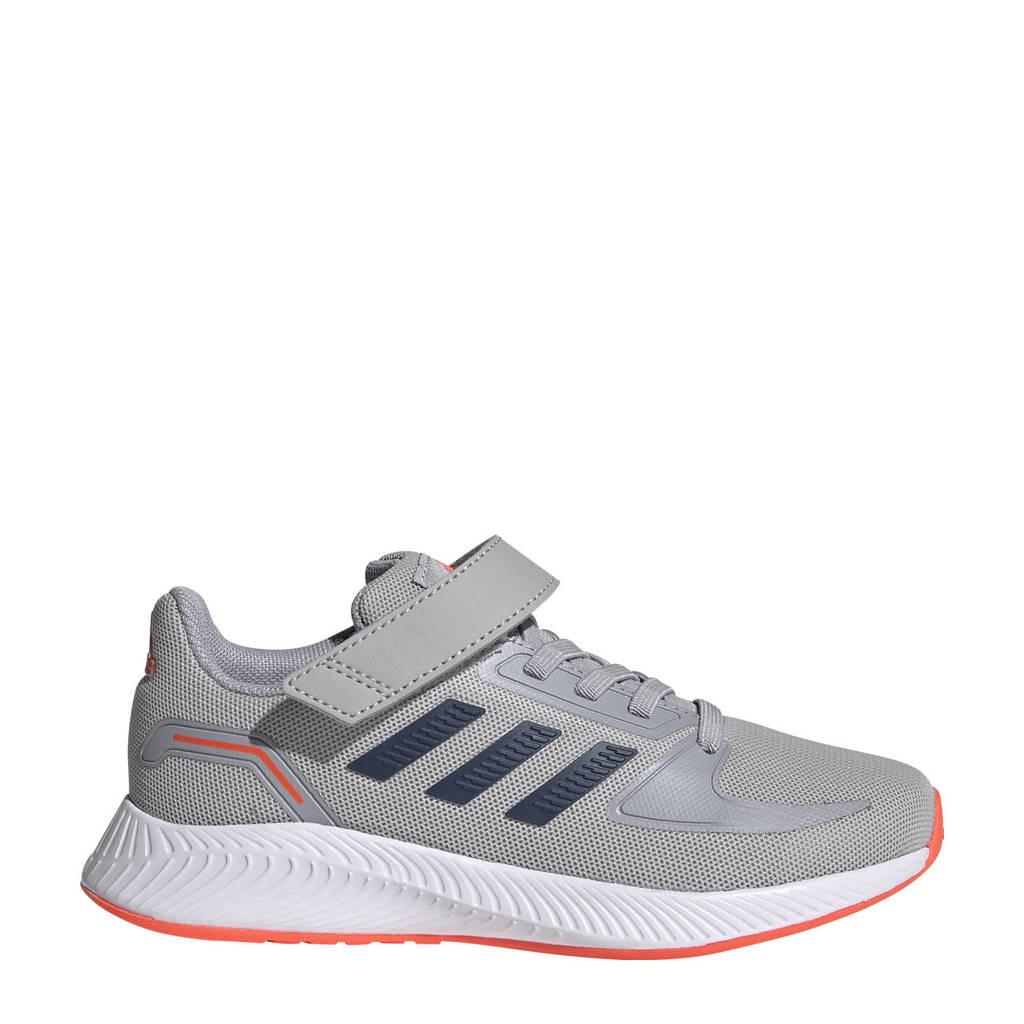 adidas Performance Runfalcon 2.0 Classic hardloopschoenen grijs/donkerblauw/zilver kids
