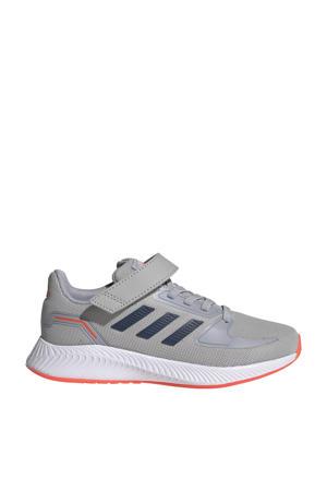 Runfalcon 2.0 Classic hardloopschoenen grijs/donkerblauw/zilver kids