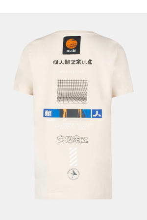 T-shirt Foss met printopdruk zand