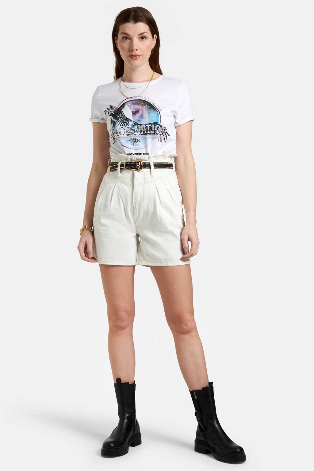 Eksept by Shoeby T-shirt Future met printopdruk wit, Wit