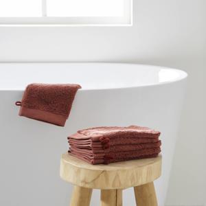 washand hotelkwaliteit (set van 6) (15.5x23.5 cm) Donkerrood
