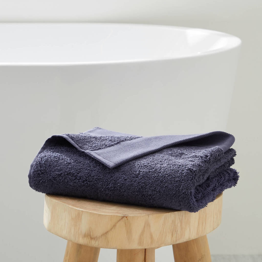 wehkamp home handdoek hotelkwaliteit (50 x 100 cm) Marine blauw