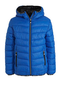 C&A Here & There gewatteerde winterjas blauw, Blauw