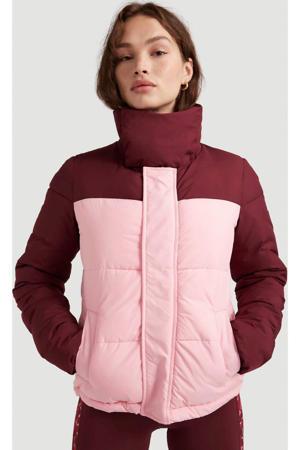 gewatteerde jas Misty roze/donkerroze