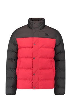 gewatteerde jas Charged rood/antraciet