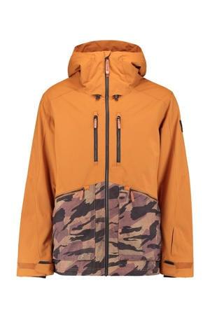 ski-jack Texture oranje/bruin