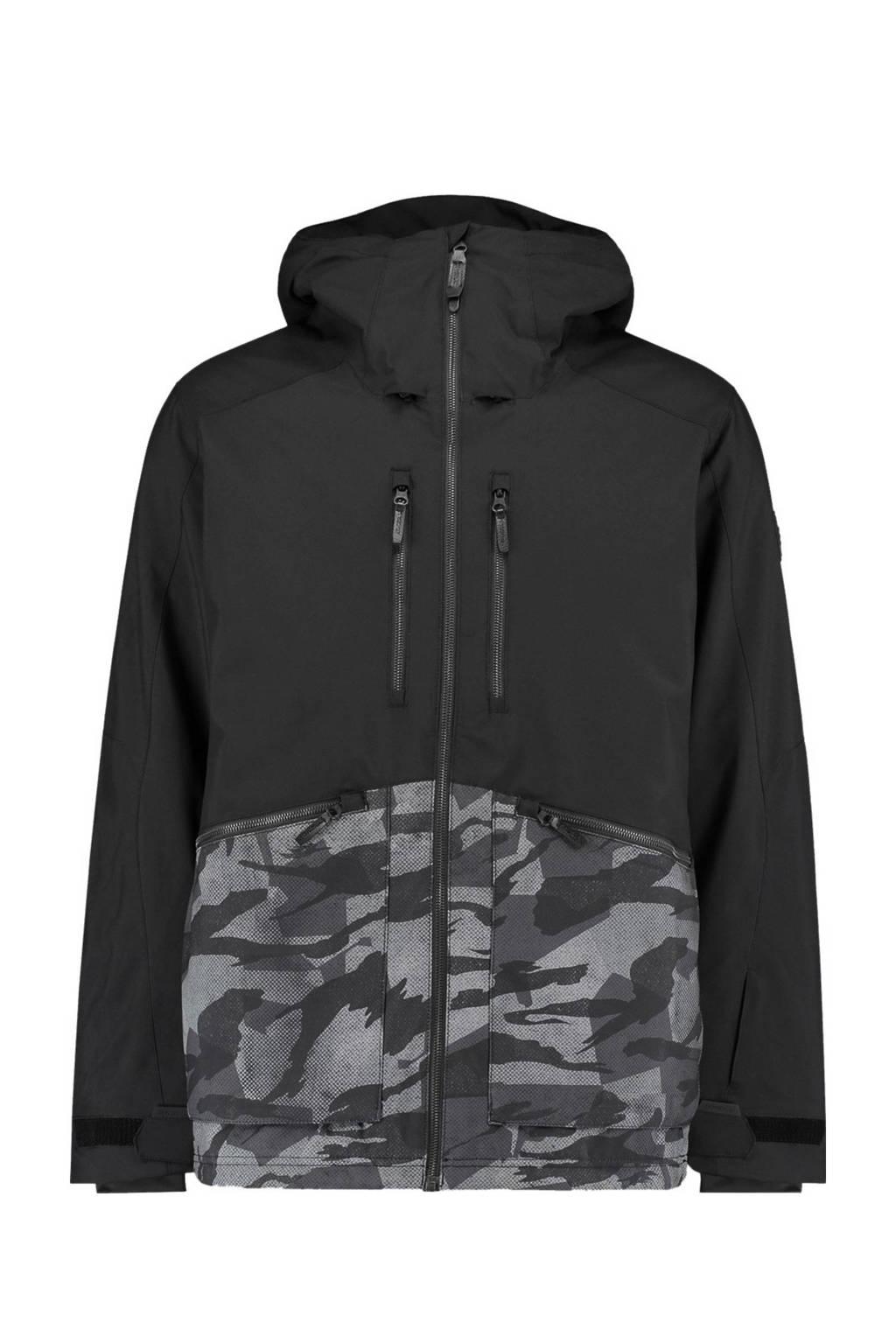 O'Neill jack Texture zwart/grijs, Black Out