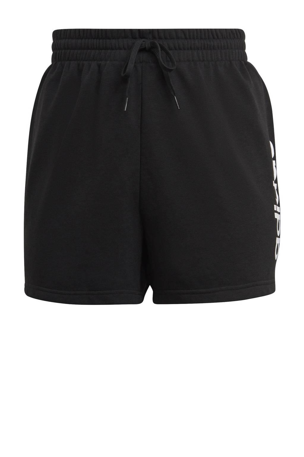 adidas Performance Plus Size sportshort zwart/wit, Zwart/wit