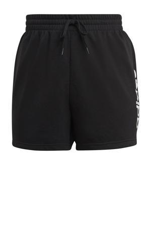 Plus Size sportshort zwart/wit
