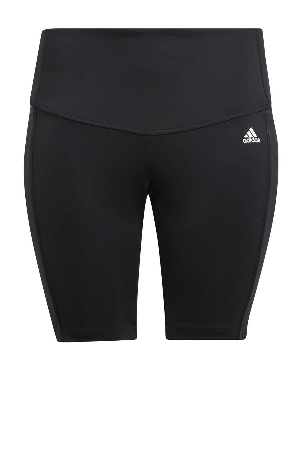 adidas Performance Plus Size Dance Designed2Move sportshort zwart/wit, Zwart/wit